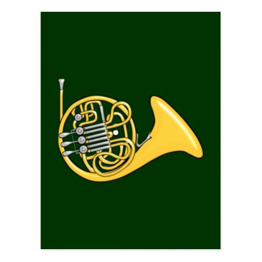 Waldhorn french horn postcards