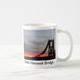 Waldo-Hancock Bridge at sunrise, Waldo-Hancock ... Coffee Mugs