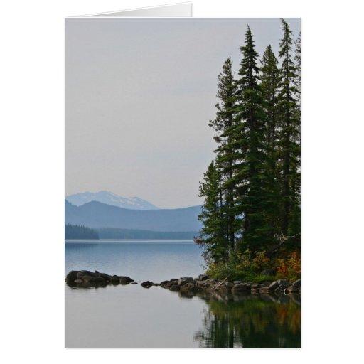 Waldo Lake, Oregon Greeting Card