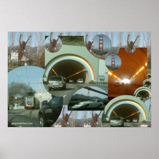 Waldo Tunnel Marin County & San Francisco Poster