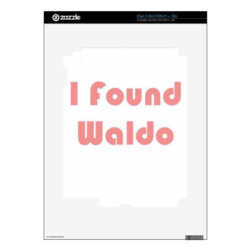 Waldo Was Finally Found! Skin For The iPad 2