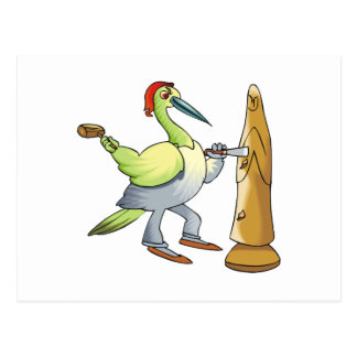 Waldo Woodpecker Postcard