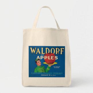 Waldorf Apples Vintage Label Tote Bag
