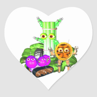 Waldorf Robots Heart Sticker