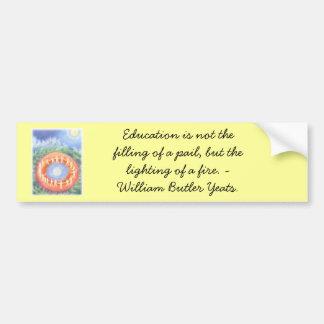 waldorf school car bumper sticker