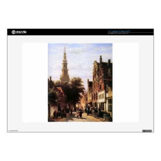 Walenkerk Haarlem by Cornelis Springer Skins For Laptops