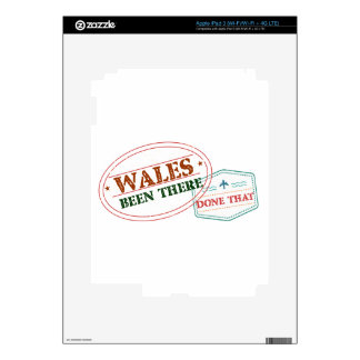 Wales Been There Done That Decals For iPad 3
