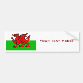 Wales Car Bumper Sticker