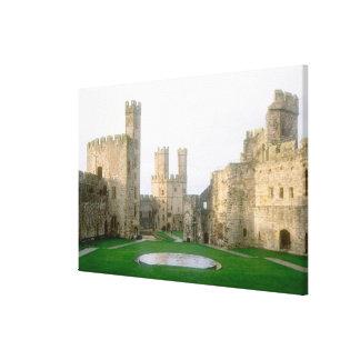 Wales Caernarfon castle one of Edward s Stretched Canvas Prints