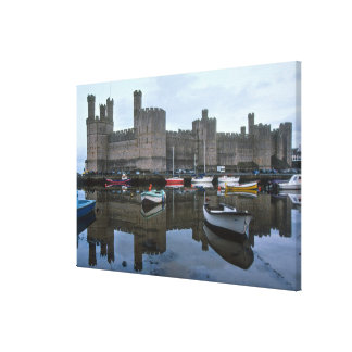 Wales, Caernarfon castle, one of Edward's 2 Canvas Print