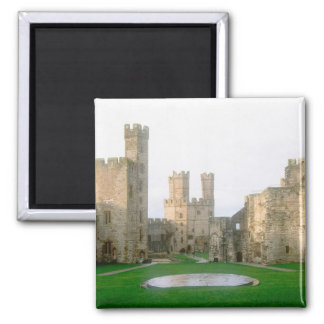 Wales, Caernarfon castle, one of Edward's 2 2 Inch Square Magnet