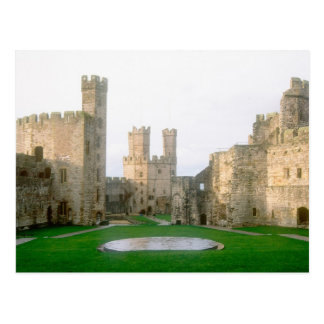 Wales, Caernarfon castle, one of Edward's 2 Postcard