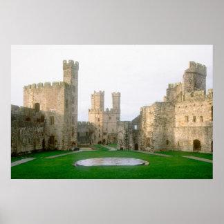 Wales, Caernarfon castle, one of Edward's 2 Poster