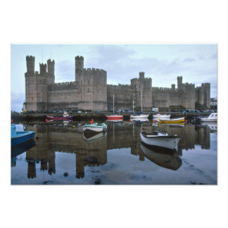 Wales, Caernarfon castle, one of Edward's Photograph