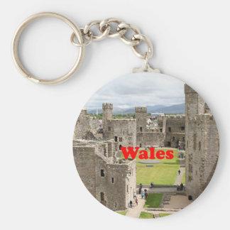 Wales: Caernarfon Castle, United Kingdom Keychain