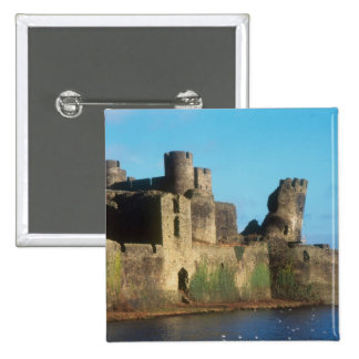 Wales - Caerphilly castle, with a view of the Button