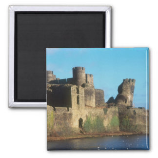 Wales - Caerphilly castle, with a view of the Magnet