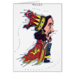 Wales Caricature Map Card