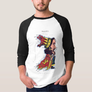 Wales Caricature Map T-Shirt