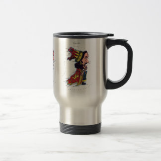 Wales Caricature Map Travel Mug