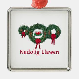 Wales Christmas 2 Metal Ornament
