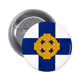 wales church flag welsh british symbol button