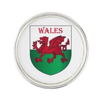 Wales coat of arms pin