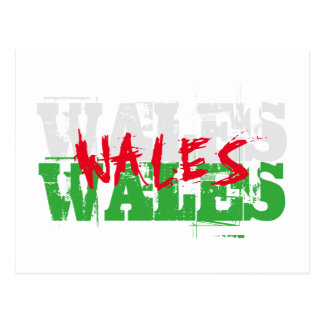 Wales - Colours of the Welsh Flag Postcard