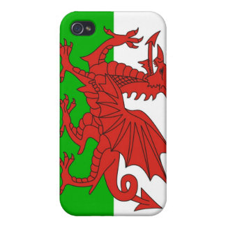 wales country dragon flag british cover for iPhone 4