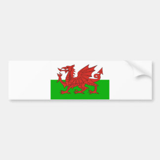 wales country dragon flag welsh british bumper sticker