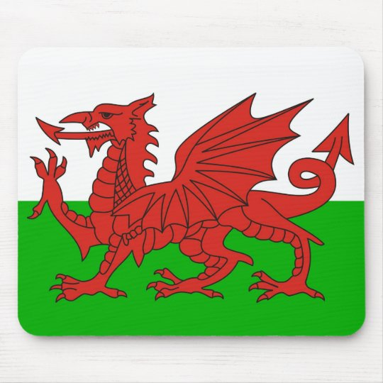 wales country dragon flag welsh british mouse pad