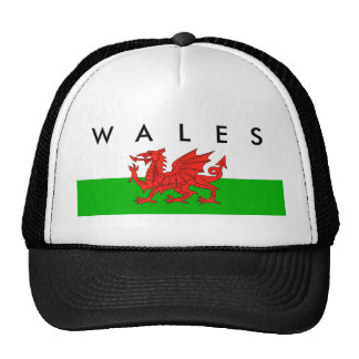 wales country flag british nation welsh symbol trucker hat