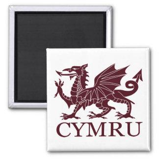 Wales CYMRU 2 Inch Square Magnet
