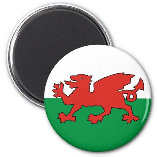 Wales Cymru dragon red 2 Inch Round Magnet