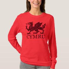 Wales Cymru T-shirt at Zazzle