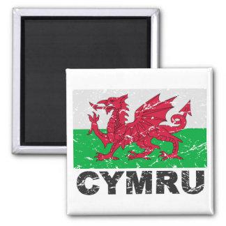 Wales CYMRU Vintage Flag Magnet