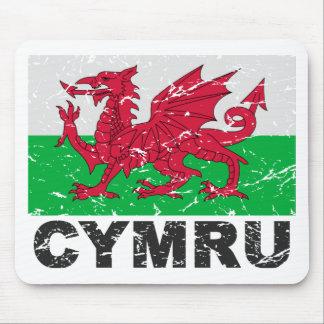 Wales CYMRU Vintage Flag Mouse Pad