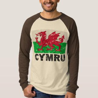 Wales CYMRU Vintage Flag Tee Shirt