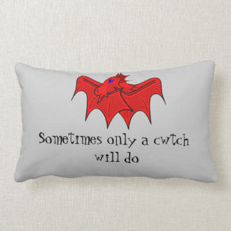 Wales dragon gives welsh cwtch lumbar pillow