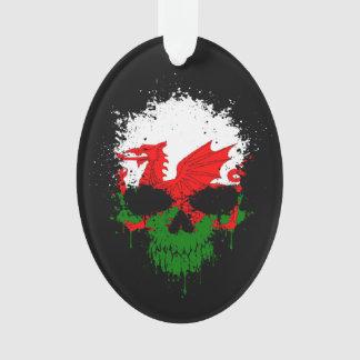 Wales Dripping Splatter Skull