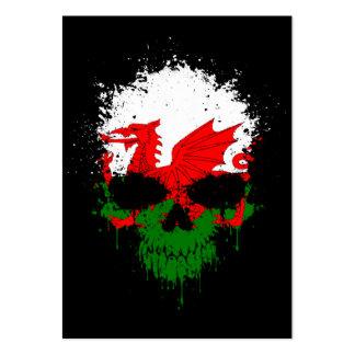 Wales Dripping Splatter Skull Business Card Templates