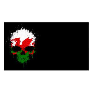 Wales Dripping Splatter Skull Business Card Template