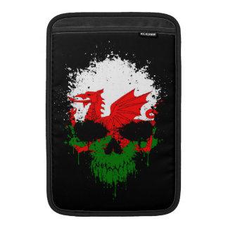 Wales Dripping Splatter Skull MacBook Air Sleeves