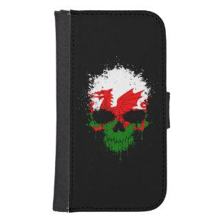 Wales Dripping Splatter Skull Phone Wallet Cases