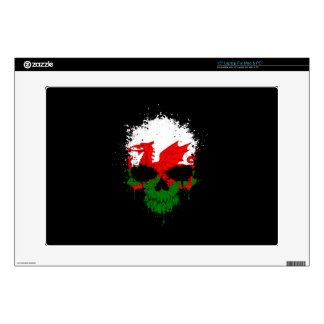 """Wales Dripping Splatter Skull Decals For 15"""" Laptops"""