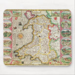 Wales, engraved by Jodocus Hondius Mouse Pad