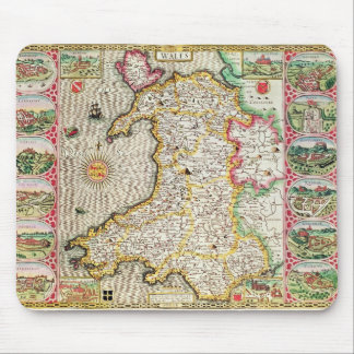 Wales, engraved by Jodocus Hondius Mouse Pads