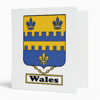 Wales Family Crest 3 Ring Binders