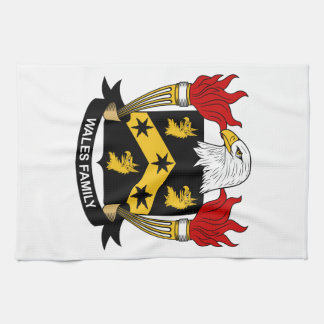 Wales Family Crest Kitchen Towel
