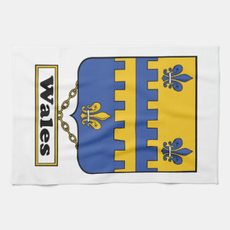 Wales Family Crest Hand Towels